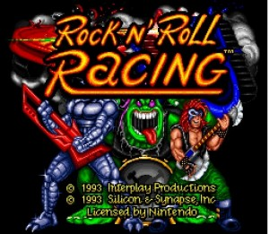Rock'n Roll Racing - Ecran titre